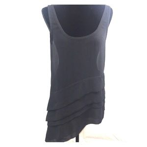 Tops - Asymmetrical Shear Sleeveless Blouse